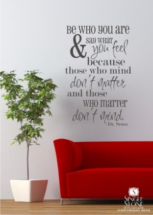 Dr. Seuss Wall Decal Quote Be Who You Are - Vinyl Sticker Art | eBay