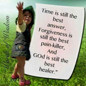 God is the best healer...