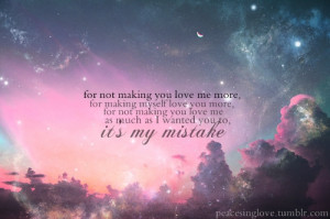 my mistake quotes