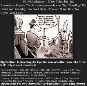 The NRA's 2nd Amendment Rights vs The Patriot Act: