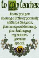 Irish Teacher gifts, blessings & sayings