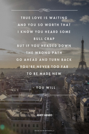 ... to be made new - You Will Andy Mineo | #andymineo, #youwill, #lyrics