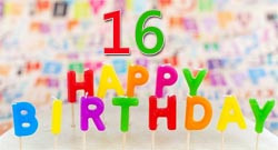 16th Birthday Messages and Wishes