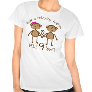 Funny 9th Wedding Anniversary Gifts T-shirts