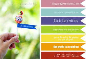 Download Rainbow Quotes printable here .