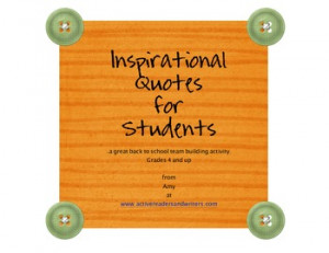 INSPIRATIONAL QUOTES-BACK TO SCHOOL ACTIVITY - TeachersPayTeachers.com