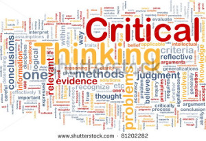... wordcloud illustration of critical thinking strategy - stock photo