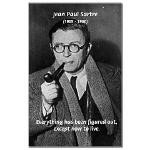 Jean Paul Sartre: Existential Living Quote