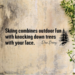 Skiing combines outdoor fun ....Funny Skiing Wall Quote Words Sayings ...
