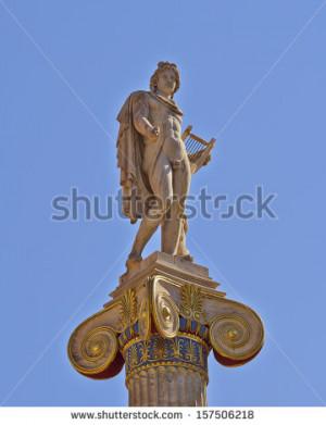 Stock Photo Apollo With Lyre Greek God Music Poetry