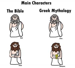... the Bible. Plain writing = From the Bible. Bold = Greek Mythology