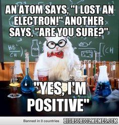 an atom says,