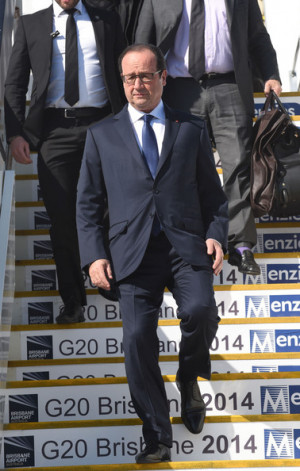 Francois Hollande In this handout photo provided by the G20 Australia