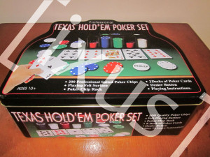 Texas Holdem Poker Set for Playing (200 chips)★★