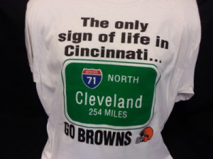 Details about Cleveland Browns FUNNY T Shirt Tee New Old Stock L Large ...
