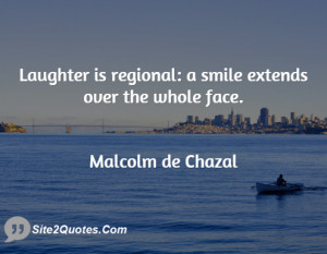 Laughter is regional: a smile extends over the whole face.