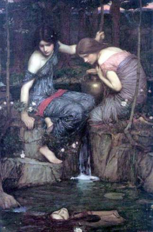 Waterhouse's Nymphs Finding the Head of Orpheus .