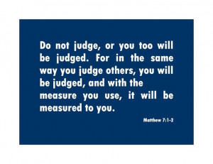 Bible Quotes About Judging Others