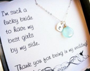... you cards, sterling silver bridesmaid jewelry, Bridal party gifts
