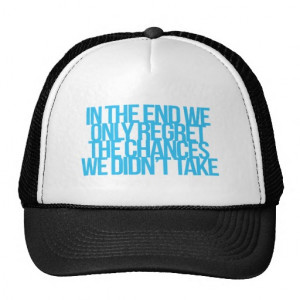 Inspirational and motivational quote trucker hat