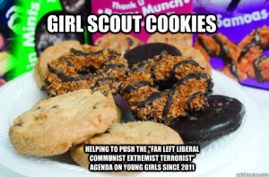 Girl Scout Cookies Helping to push the
