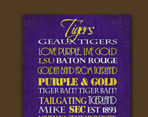 Lsu Quotes ~ Popular items for lsu tigers art on Etsy