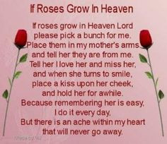 Sad Poems About Mom Death | ITS SO HARD TO SAY GOODBYE TO YESTERDAY ...