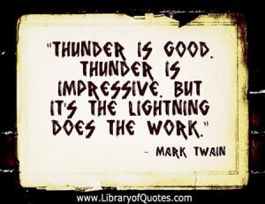 Mark twain, quotes, sayings, thunder, lightning
