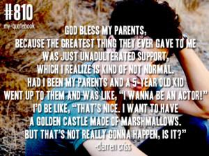 Parents Quotes Tumblr Tags: quotes darren criss mine