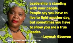 Servant Leadership - Leymah Gbowee