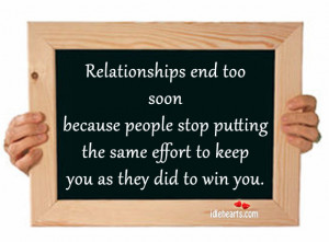 Effort, End, Life, People, Relationship, Relationships, Stop, Win