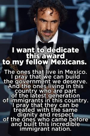 Let's Focus On Alejandro González Iñárritu's Powerful Speech ...
