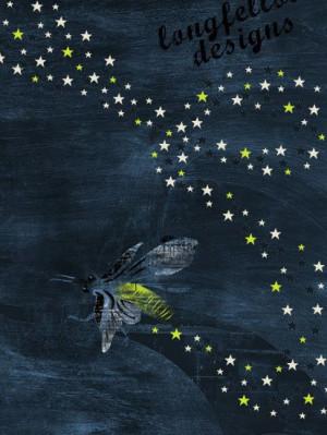 Firefly / Lightning Bug, Trail of Stars - 11 x 14 Print
