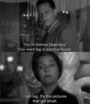 ... Boulevard. William Holden gets a smart answer from Gloria Swanson