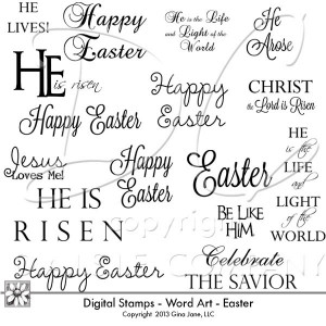 Digital Stands Easter Words...