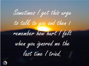Feeling Ignored