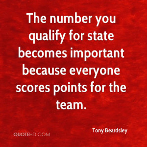 The number you qualify for state becomes important because everyone ...