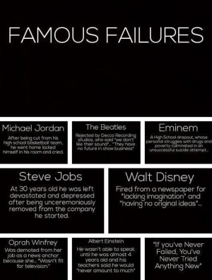 Famous Failures: Michael Jordan, the Beatles, Eminem, Steve Jobs, Walt ...