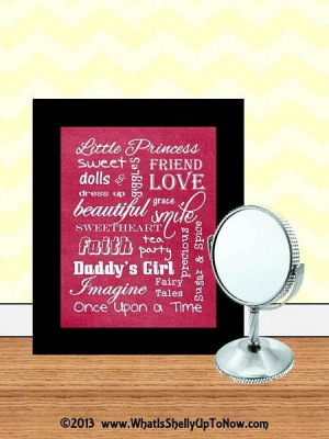 Girl Subway Art Pink Little Princess Quotes by WeLovePrintableArt, $5 ...