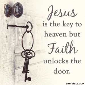Have faith in Jesus