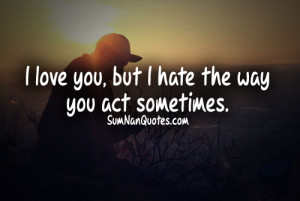 Love-hate quotes and sayings