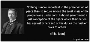 More Elihu Root Quotes