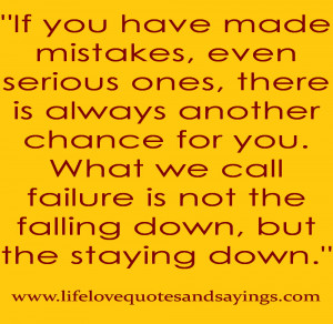 Made A Mistake Quotes If You Have Made Mistakes Even Serious ...