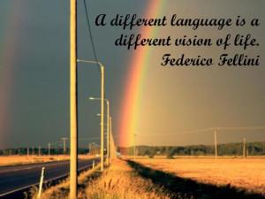 ... image include: Federico Fellini, Fellini, language, quotes and idioma