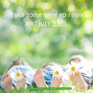 Inspirational quote: It's Time to Relax