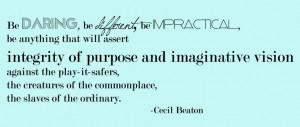 Cecil Beaton #inspirational quote