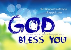 God bless you free christian card
