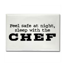 Funny Chef Rectangle Magnet for