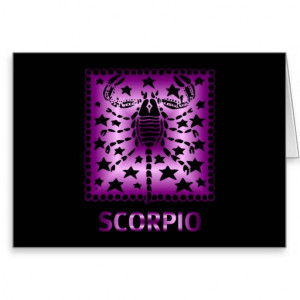 Birthday Card For Scorpios