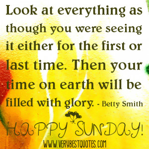 Happy Sunday Good Morning Picture QUotes - glory